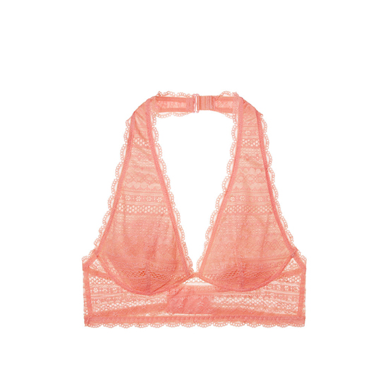 VICTORIA\'S SECRET Long Line Halter Bralette Lipsmacker On Sale