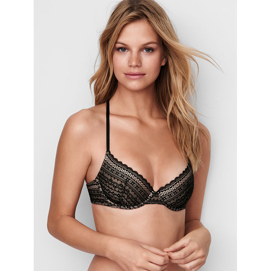 VICTORIA'S SECRET NEW! Lightly Lined Demi Bra Coconut White Lace On Sale
