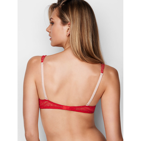 VICTORIA\'S SECRET NEW! Demi Bra Bright Cherry Lace On Sale
