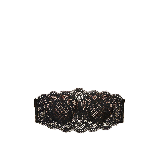 VICTORIA\'S SECRET NEW! Crochet Lace Strapless Bralette Black With Chantilly Lace On Sale
