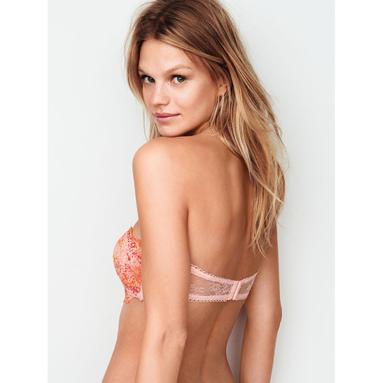 VICTORIA\'S SECRET NEW! Crochet Lace Strapless Bralette Lip Smacker With Chantilly Lace On Sale
