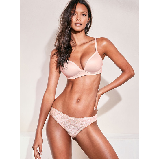 VICTORIA'S SECRET NEW! Wireless Bra Sheer Pink On Sale
