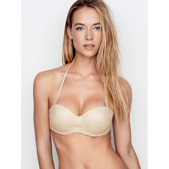 VICTORIA'S SECRET Multi-Way Bra Champagne Lace On Sale