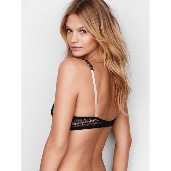 VICTORIA\'S SECRET Perfect Coverage Bra Black Lace On Sale