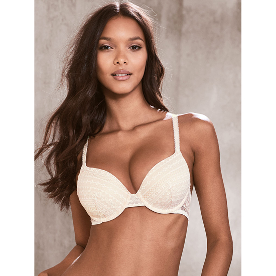 VICTORIA\'S SECRET NEW! Perfect Coverage Bra Coconut White Lace On Sale