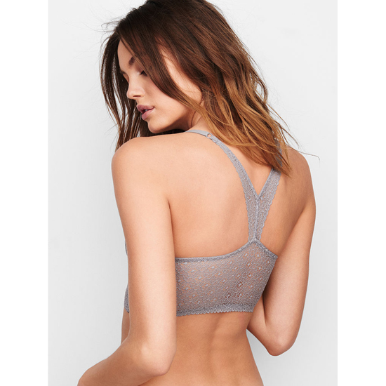 VICTORIA\'S SECRET NEW! Easy Push-Up Bra Sterling Pewter Lace On Sale