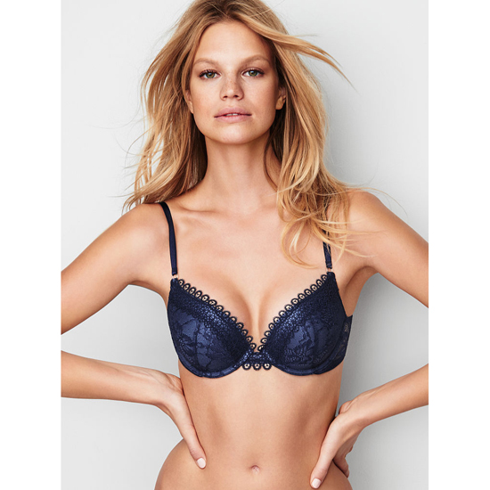 VICTORIA'S SECRET NEW! Push-Up Bra Ensign Crochet Lace On Sale