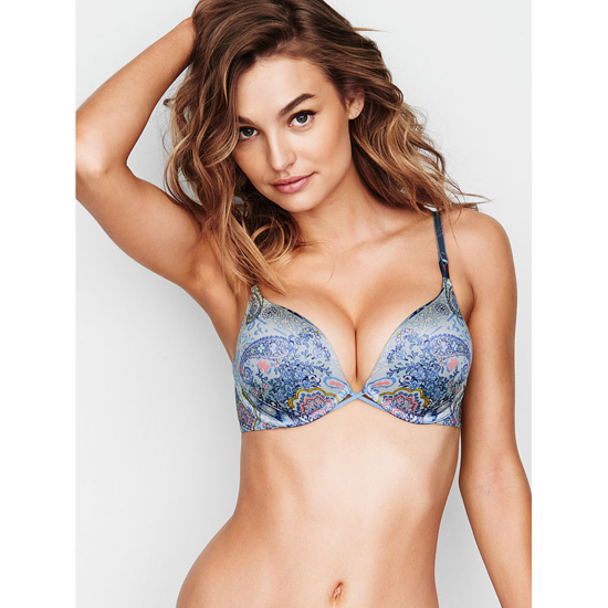VICTORIA'S SECRET NEW! Add-2-Cups Push-Up Bra Caravan Print On Sale