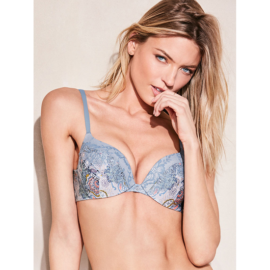 VICTORIA\'S SECRET Add-1-Cups Push-Up Bra Caravan Print On Sale