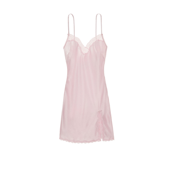 VICTORIA\'S SECRET Lace-trim Slip Sheer Pink On Sale