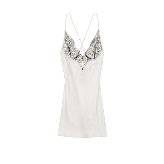 VICTORIA\'S SECRET NEW! Satin & Lace Low Back Slip Vs Ivory On Sale