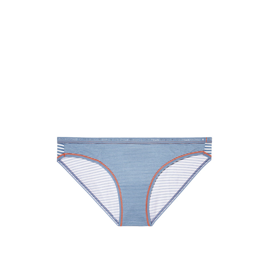 VICTORIA'S SECRET Low-rise Bikini Panty Faded Denim Skinny Stripe On Sale