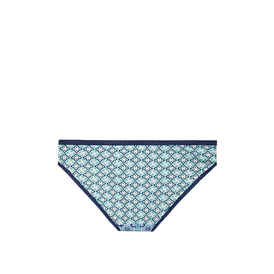 VICTORIA\'S SECRET NEW! Bikini Panty Aqua Splash Geo Patchwork Print On Sale