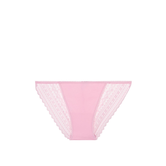 VICTORIA'S SECRET NEW! Lace-back String Bikini Panty Pink Bubble On Sale