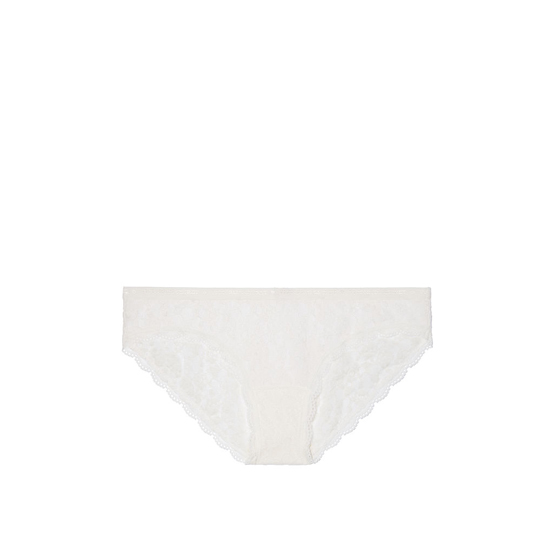 VICTORIA\'S SECRET Lace Bikini Panty Coconut White On Sale