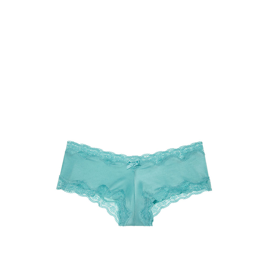 VICTORIA\'S SECRET Lace-Trim Cheeky Panty Cozumel Teal On Sale