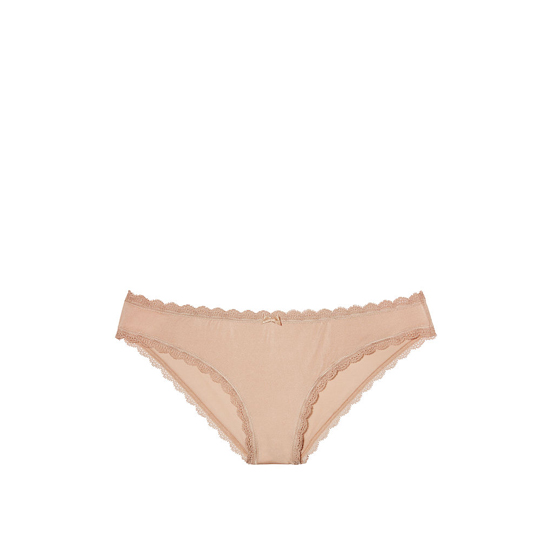 VICTORIA'S SECRET Lace-trim Cheekini Panty Nude Lace Trim On Sale