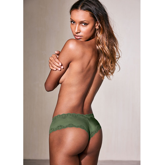 VICTORIA\'S SECRET NEW! Lace-Trim Cheeky Panty Cadette Green On Sale
