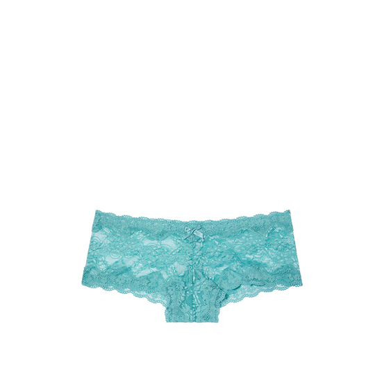 VICTORIA'S SECRET NEW! Lace Cheeky Panty Cozumel Teal On Sale