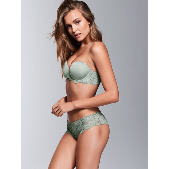 VICTORIA'S SECRET NEW! Crochet Lace Cheekster Panty Silver Sea On Sale
