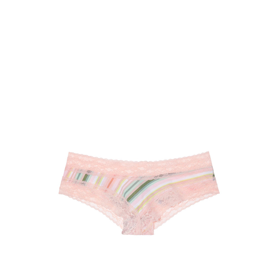 VICTORIA\'S SECRET NEW! Lace-waist Cheeky Panty Cool Chloe Stripe On Sale
