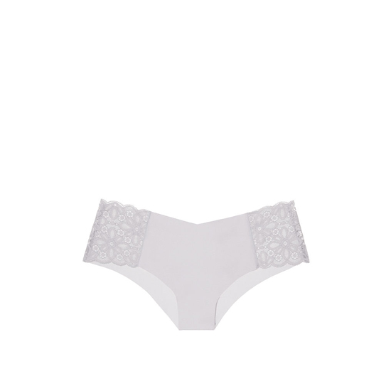 VICTORIA\'S SECRET NEW! Raw Cut Cheeky Panty So Silver Daisy Lace On Sale