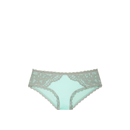 VICTORIA\'S SECRET NEW! Lace Hiphugger Panty Silver Sea On Sale