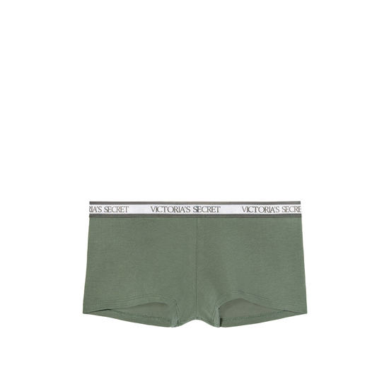 VICTORIA'S SECRET NEW! Logo-waist Shortie Panty Cadette Green On Sale