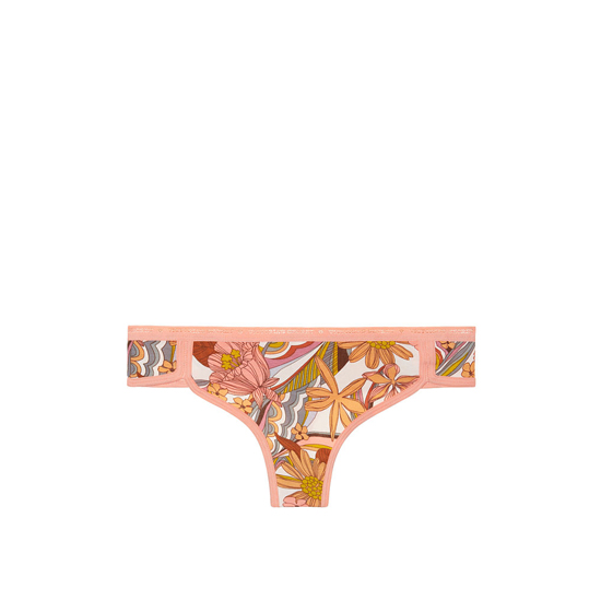 VICTORIA\'S SECRET NEW! Curved-hem Thong Panty Summer Floral Print On Sale