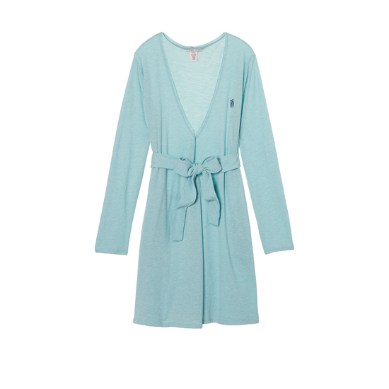 VICTORIA\'S SECRET NEW! Sleepover Knit Robe Cozumel Teal On Sale