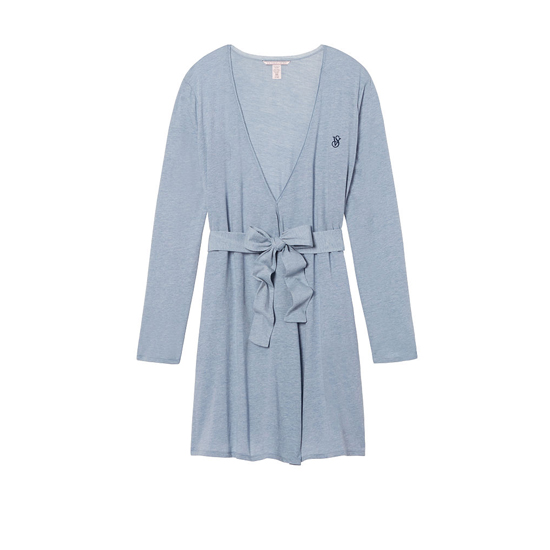 VICTORIA\'S SECRET NEW! Sleepover Knit Robe Faded Denim On Sale