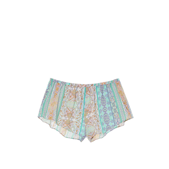 VICTORIA\'S SECRET NEW! Sleep Short Green/Blue Paisley Stripe On Sale