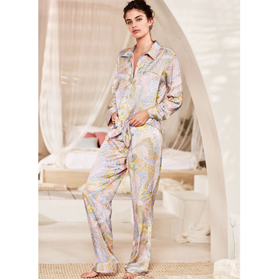 VICTORIA'S SECRET NEW! The Afterhours Satin Pajama Cool Floral On Sale