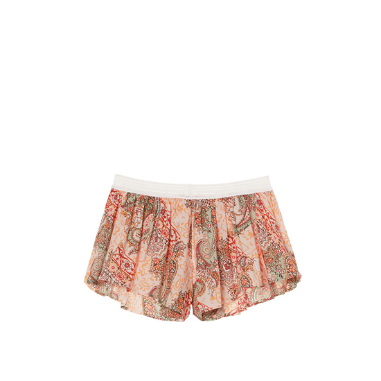 VICTORIA\'S SECRET NEW! Crochet-trim Sleep Short Champagne Paisley On Sale