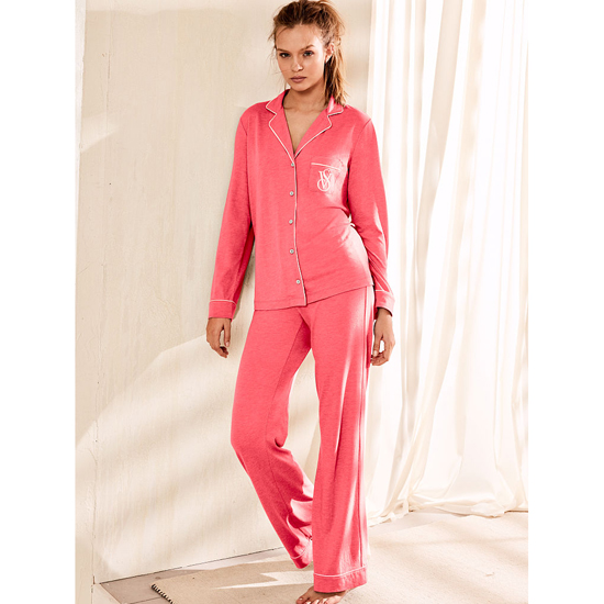 VICTORIA'S SECRET NEW! The Sleepover Knit Pajama Tropical Coral On Sale
