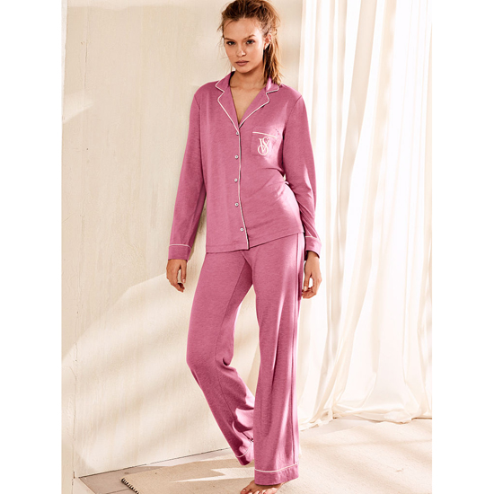 VICTORIA'S SECRET NEW! The Sleepover Knit Pajama Rosy Mauve On Sale