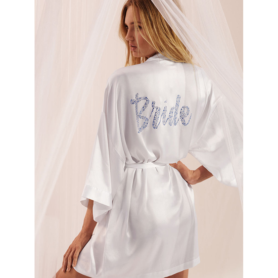 VICTORIA\'S SECRET Bridal Robe White On Sale