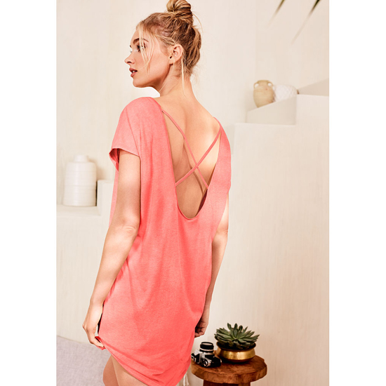 VICTORIA'S SECRET NEW! The Crossback Angel Sleep Tee Tropical Coral On Sale
