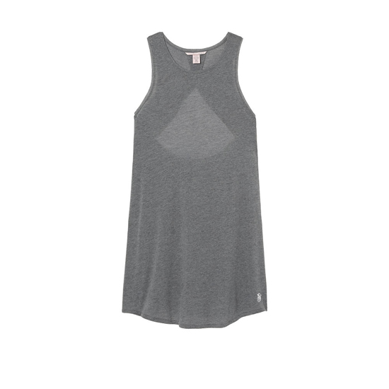VICTORIA'S SECRET NEW! Open-back Slip Medium Heather Grey On Sale