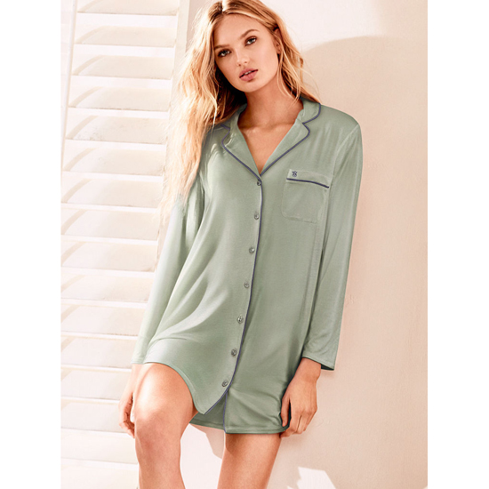VICTORIA'S SECRET Supersoft Sleepshirt Silver Sea On Sale