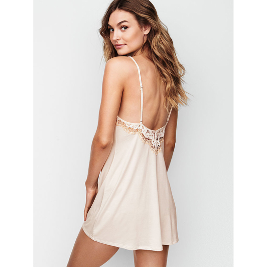 VICTORIA\'S SECRET NEW! Supersoft Low-back Slip Coconut White On Sale