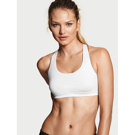 VICTORIA'S SECRET NEW! Crossback Sport Bra White On Sale