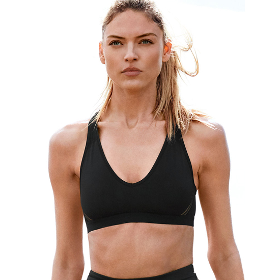 VICTORIA'S SECRET NEW! The Player Plunge Sport Bra Black On Sale