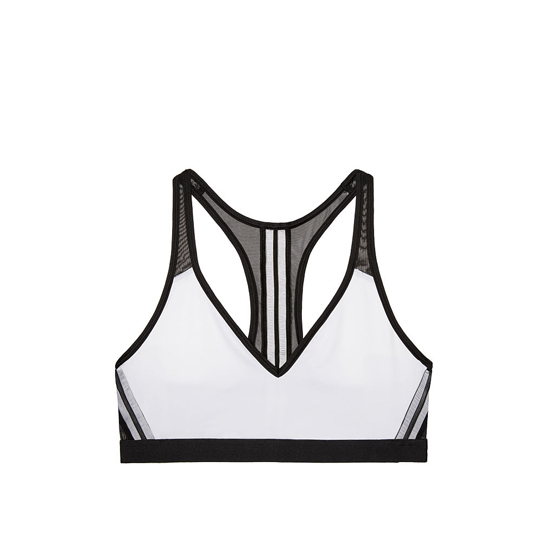 VICTORIA\'S SECRET NEW! The Player Plunge Sport Bra White On Sale