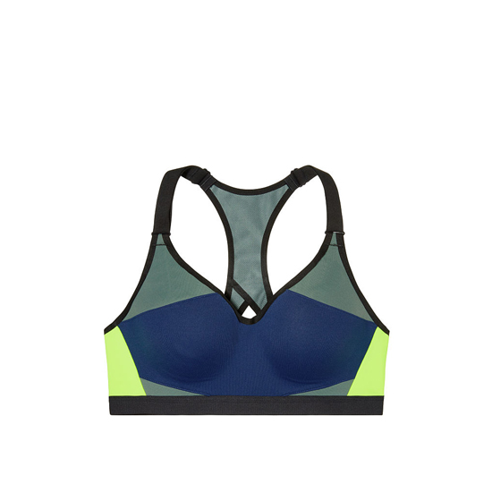 VICTORIA\'S SECRET NEW! Incredible by Victoria Sport Bra Inkblot Colorblock On Sale