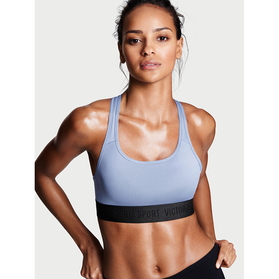 VICTORIA\'S SECRET NEW! The Player by Victoria Sport Racerback Sport Bra Faded Denim On Sale