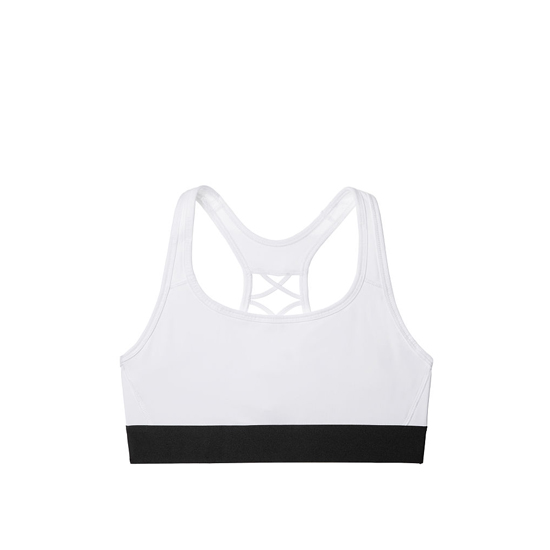 VICTORIA\'S SECRET NEW! The Player Lace-Up Sport Bra White On Sale