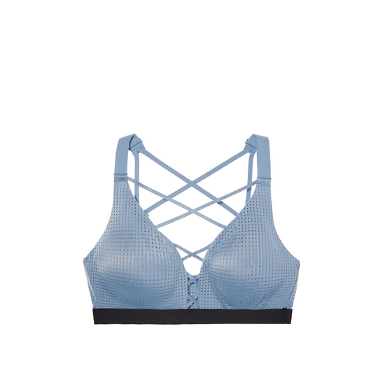 VICTORIA\'S SECRET NEW! Lightweight by Victoria Sport Bra Faded Denim On Sale