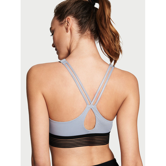 VICTORIA\'S SECRET Lightweight by Victoria Sport Bra Grey Oasis Monofilament On Sale
