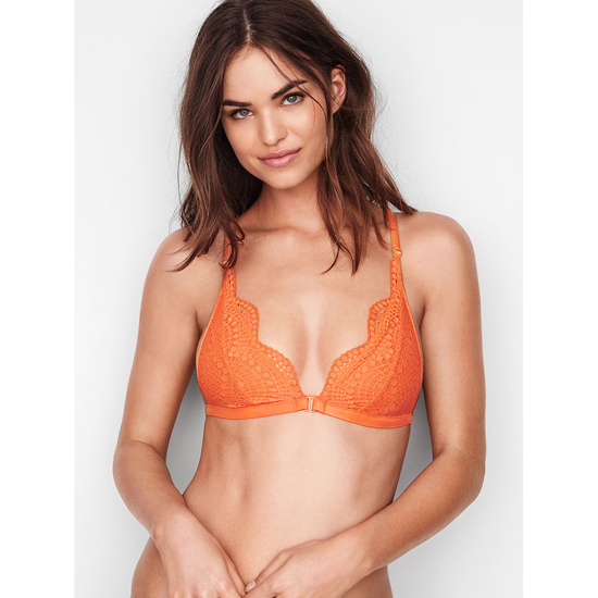 VICTORIA'S SECRET NEW! Strappy-back Triangle Bralette Tangy Orange Strappy Back On Sale